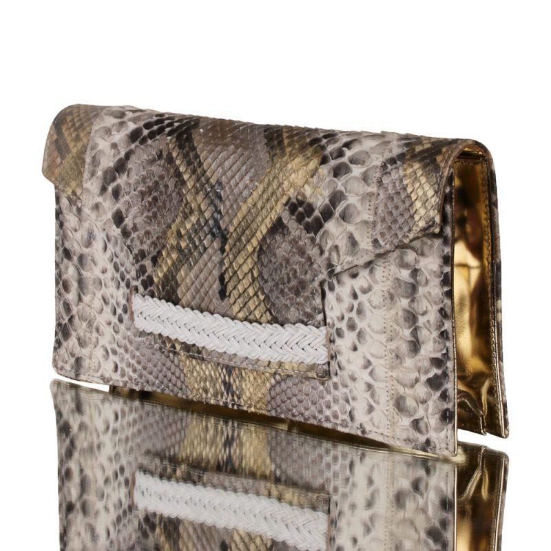 aurea - genuine python clutch - joaquim ferrer - left