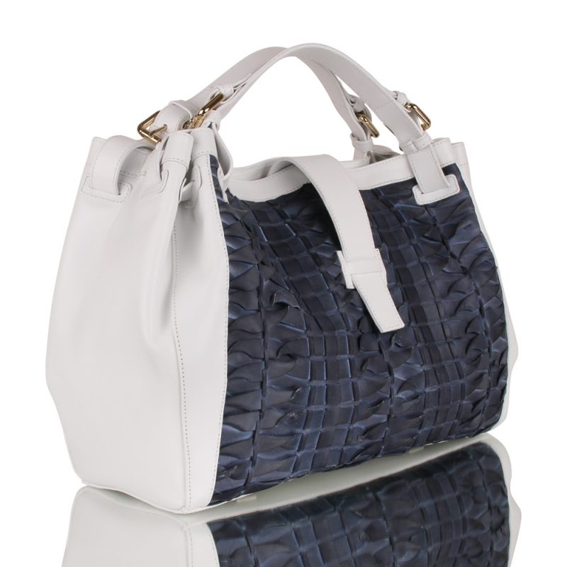isabella_white handbag_handbraided leather_joaquim ferrer_ barcelona_left