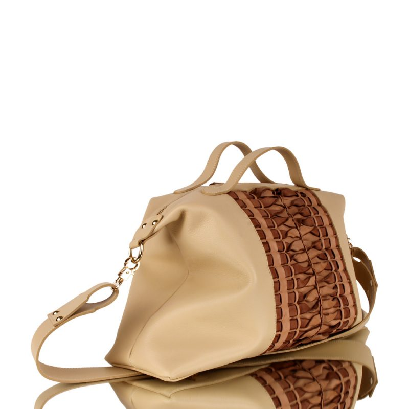 rene_handbraided leather_joaquim ferrer_nude bag_left