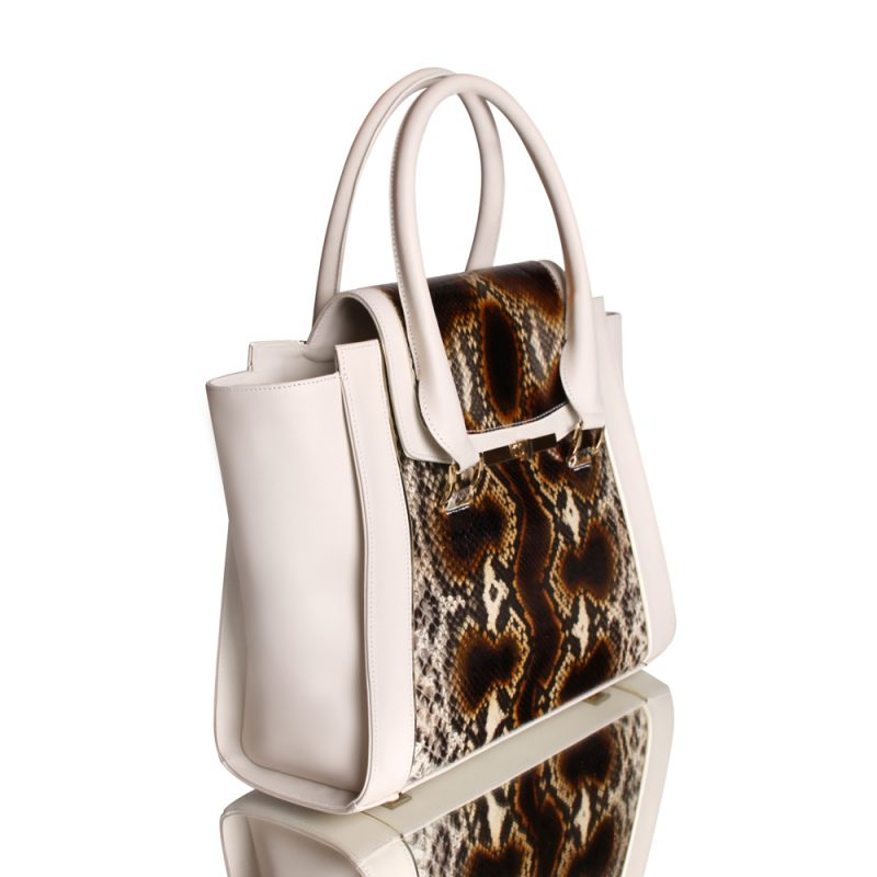 13008-1-Krotiri-shopper-tote-handbag-hand-painted-python-leather-left