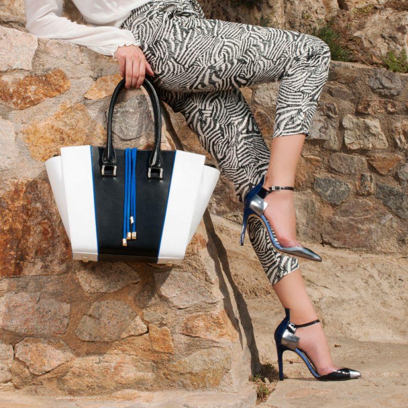 13004-Demetria-shopper-tote-handbag-white-black-calfleather-model