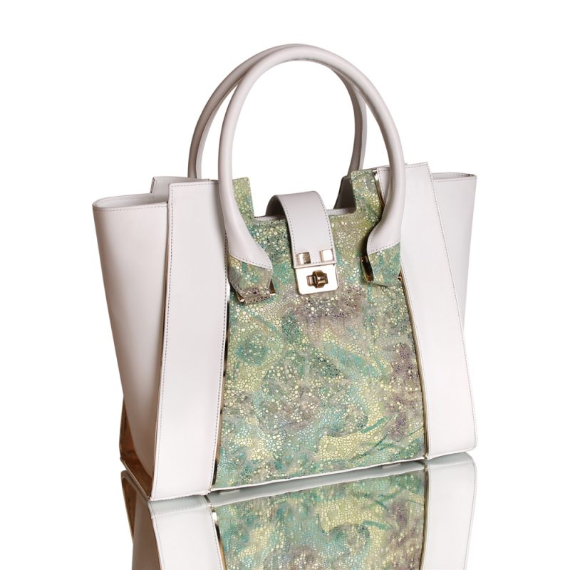 13007-6-Therasia-shopper-tote-handbag-flower-print-hand-painted-leather-right