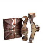 14016 DYNA - designer clutch-genuine-python-leather-hand painted python skin-joaquim-ferrer-barcelona-matching shoes
