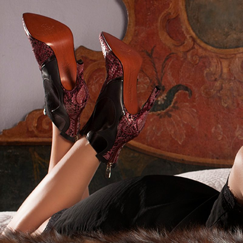 luxury high heel boots in red color- joaquim ferrer