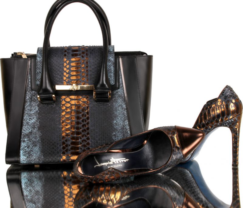 python shoes-7001-02-  Actium-high-heels-genuine-python-leather-joaquim-ferrer-matching-shoes-and-bag