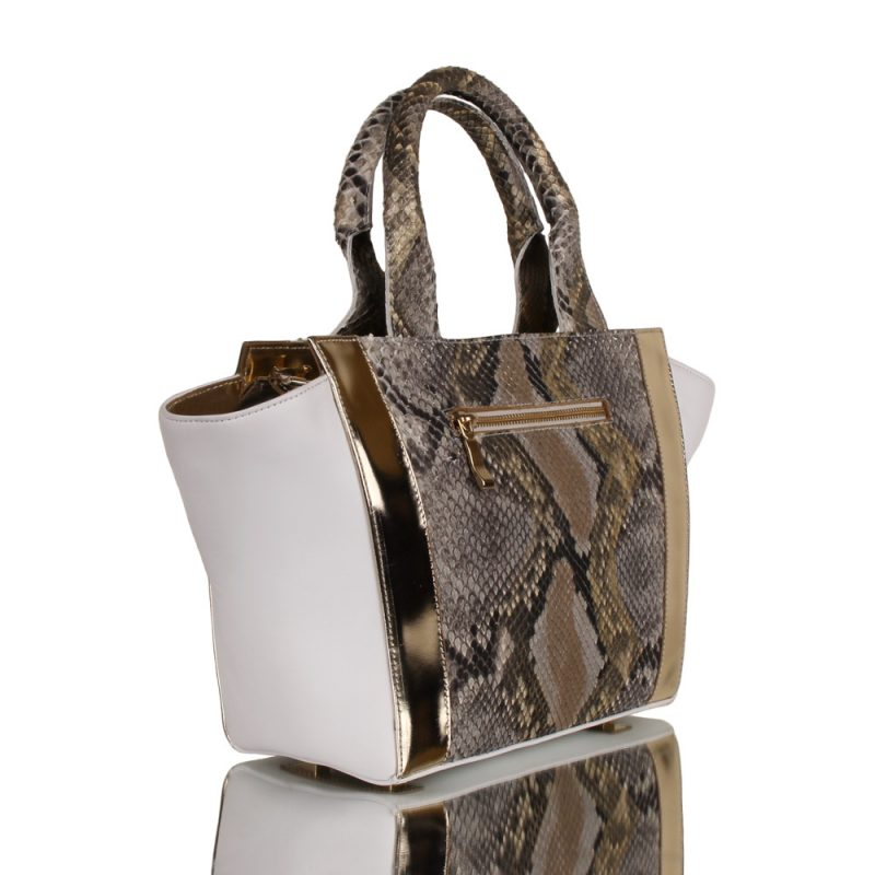 Carolina - genuine python bag - left side