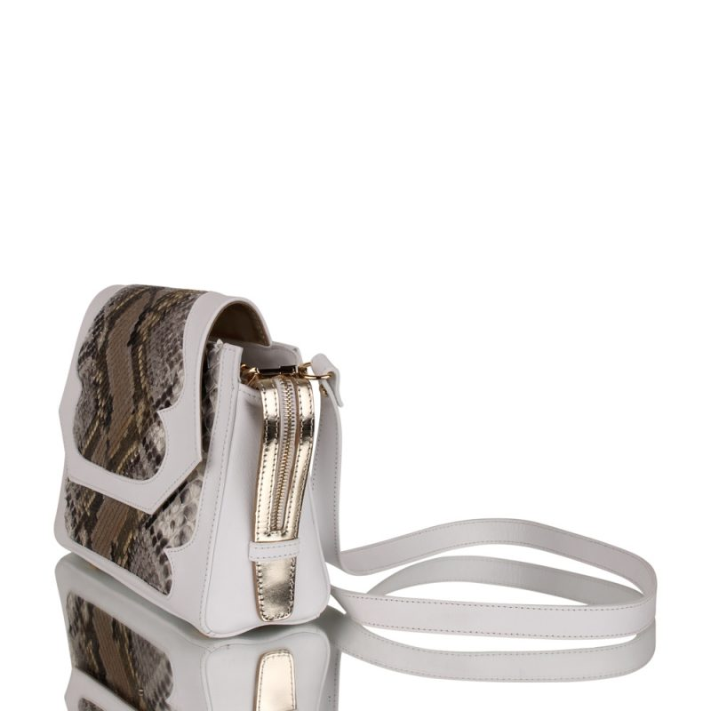 Croton. genuine python bag - left side