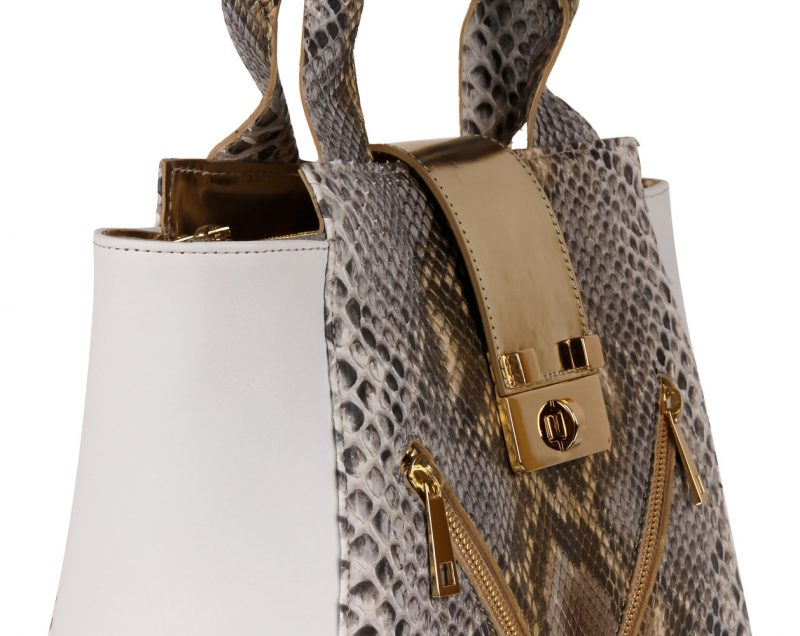colette - genuine python small bag - details