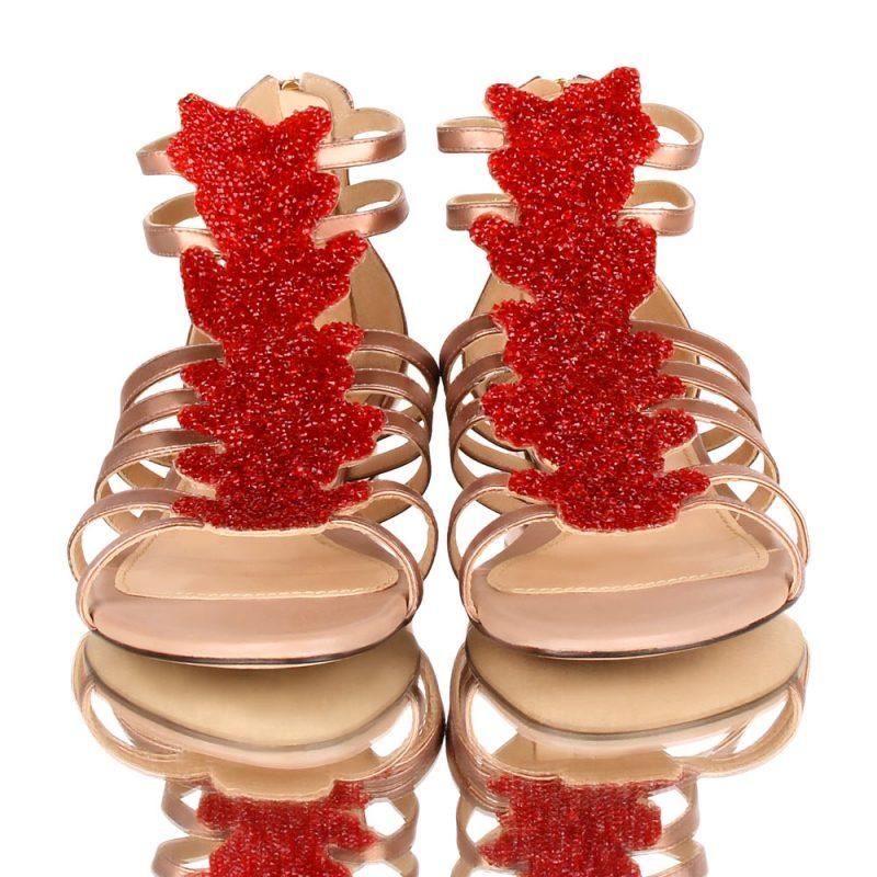 coral sandals-golden sandals-joaquim ferrer
