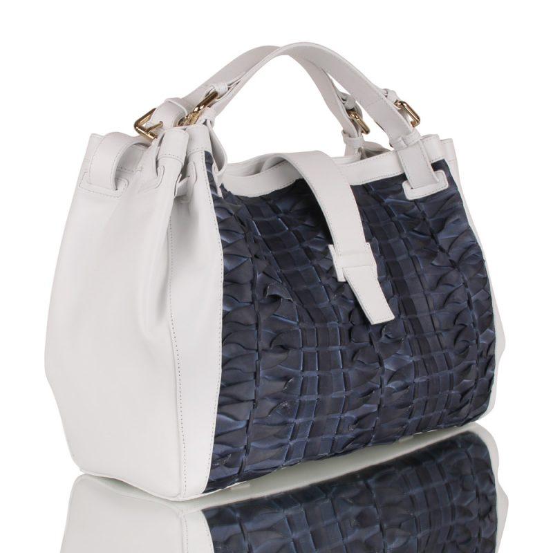 isabella_white handbag_handbraided leather_joaquim ferrer_ barcelona_left